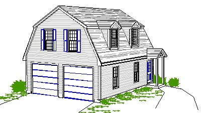 This charming Gambrel Garage has an Apartment upstairs with a convenient  First floor Entry  Dormers are optional  Floor PlansSmith Studios. Gambrel Garage With Apartment Floor Plans. Home Design Ideas