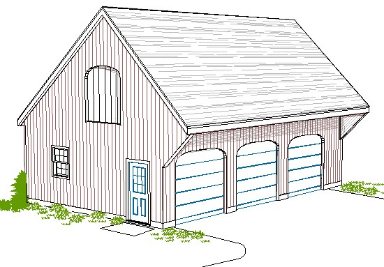 Smith Studios – Saltbox Garage Plans